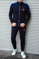 Мужской спортивный костюм Reebok тёмно-синий без капюшона