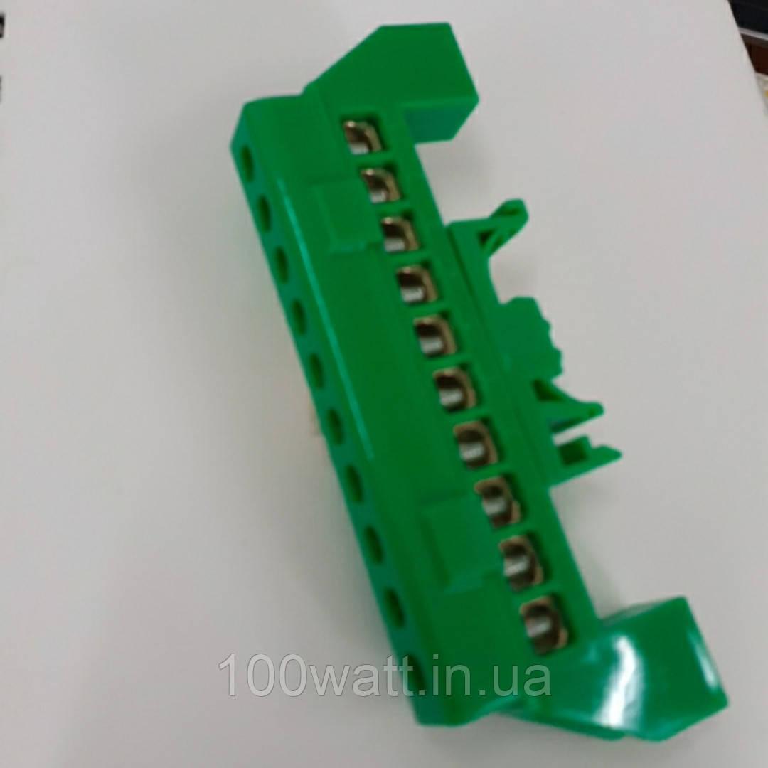 Клемма мостик универсальная с поворотной дин-рейкой 10 отверстий ST969