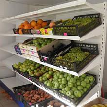 Стеллаж универсальный пристенный для овощей и фруктов