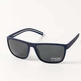 Поляризационные  спортивные мужские солнцезащитные  очки  (арт. P76050/1) черно-синие