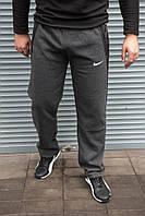 Мужские утепленные спортивные штаны Nike серые , полубатал