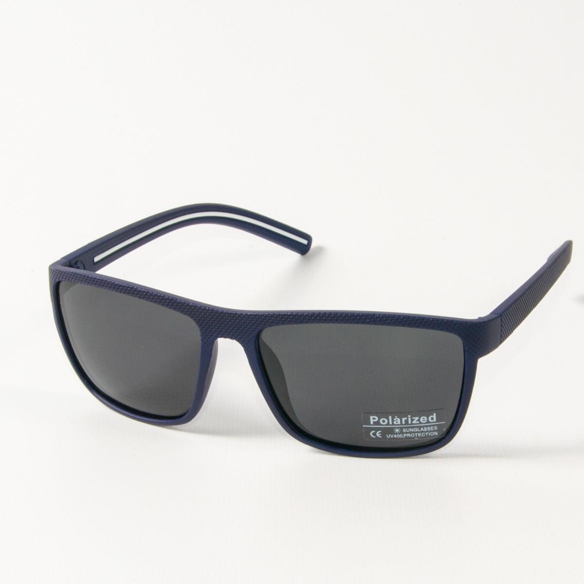 Оптом поляризационные  спортивные мужские солнцезащитные  очки  (арт. P76050/1) черно-синие