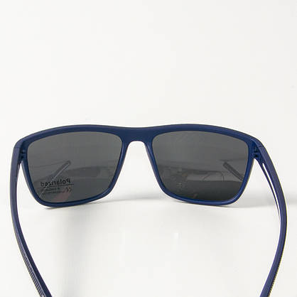 Оптом поляризационные  спортивные мужские солнцезащитные  очки  (арт. P76050/1) черно-синие, фото 3