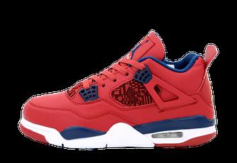 Баскетбольные кроссовки Nike Air Jordan 4 (Найк Аир Джорданы 4) красные