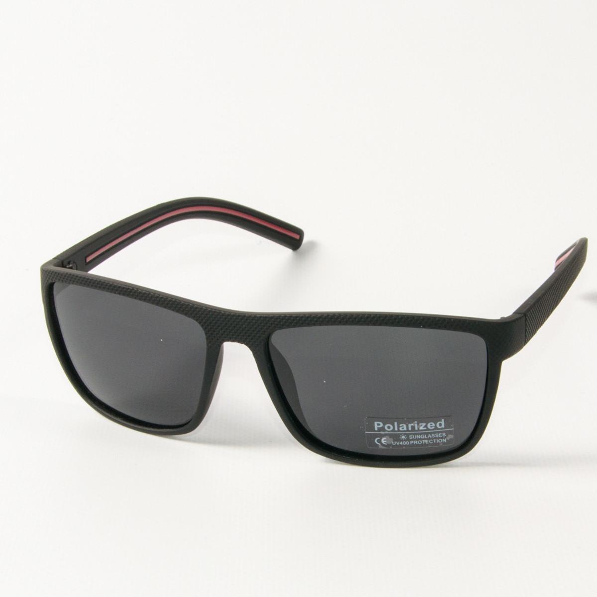 Оптом поляризационные  спортивные мужские солнцезащитные  очки  (арт. P76050/2) черно-красные
