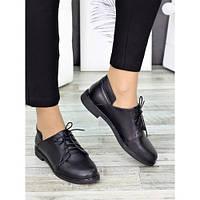 Женские черные туфли из натуральной кожи, фото 1