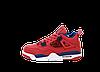 Баскетбольные кроссовки Nike Air Jordan 4 (Найк Аир Джорданы 4) красные, фото 3
