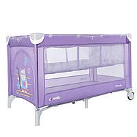 Манеж-кровать CARRELLO Piccolo+ CRL-9201/2 Orchid Purple со вторым дном