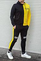 Мужской спортивный костюм PRM желтый с чёрным