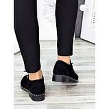 Жіночі туфлі чорні натуральна замша, фото 3