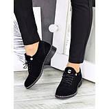 Жіночі туфлі чорні натуральна замша, фото 2