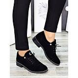 Жіночі туфлі чорні натуральна замша, фото 5
