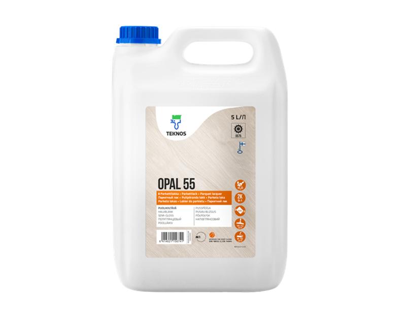 Лак поліуретановий TEKNOS OPAL 55 2K паркетний напівглянцевий 5л