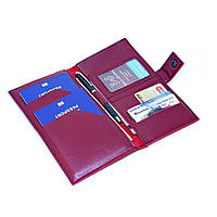 "Тревел-кейс на 2 паспорта для авиабилетов ""Wine"""
