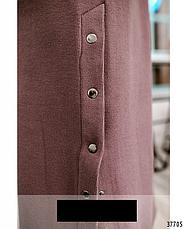 Стильное трикотажное повседневное женское платье размеры: 50-68, фото 3