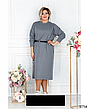 Стильное трикотажное повседневное женское платье размеры: 50-68, фото 4