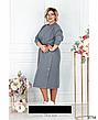 Стильное трикотажное повседневное женское платье размеры: 50-68, фото 5
