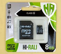 Карта памяти MicroSD Hi-Rali 8 Gb (Class 10)