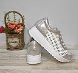 Туфли женские с перфорацией из натуральной кожи 38,40 р Foot Step., фото 2