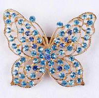 Брошь Бабочка голубая