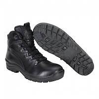 Ботинки тактические зимние кожаные чёрные меховые Стимул, фото 1