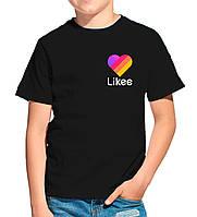 Детская футболка LIKEE. Лайки. Лайк на сердце. Футболка для мальчика Лайк