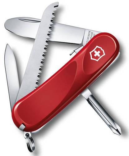 Армейский легкий складной нож Victorinox Junior 09 24213.SKE красный