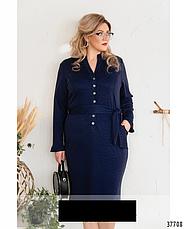 Платье женское повседневное деловое размеры: 58,60,62, фото 3