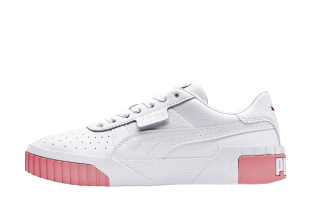 Женские кроссовки Puma Cali (Пума Кали) белые с розовым