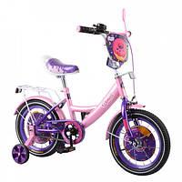 Велосипед двухколёсный Tilly Donut 14 T-214214 pink + purple
