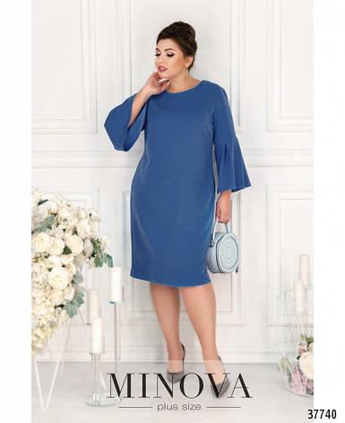 Платье женское деловое миди размеры: 50-64, фото 2