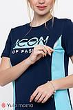 Платье-футболка для беременных и кормящих KOI DR-20.061 темно-синее, фото 3