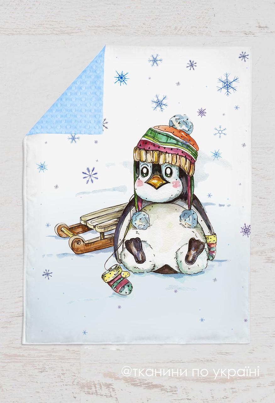 Панелька Премиум сатин Пингвин зимний 100*75