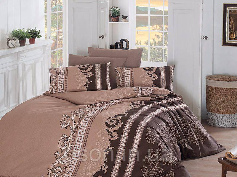 Комплект постельного белья TM First Choice ранфорс Wals Kahve
