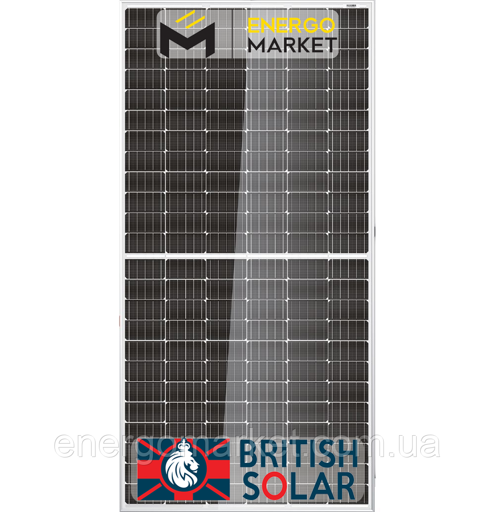 Солнечная батарея British Solar 385 Mono ( 385 Вт, монокристалл, 5ВВ, PERC, Half-cell, Bificial)