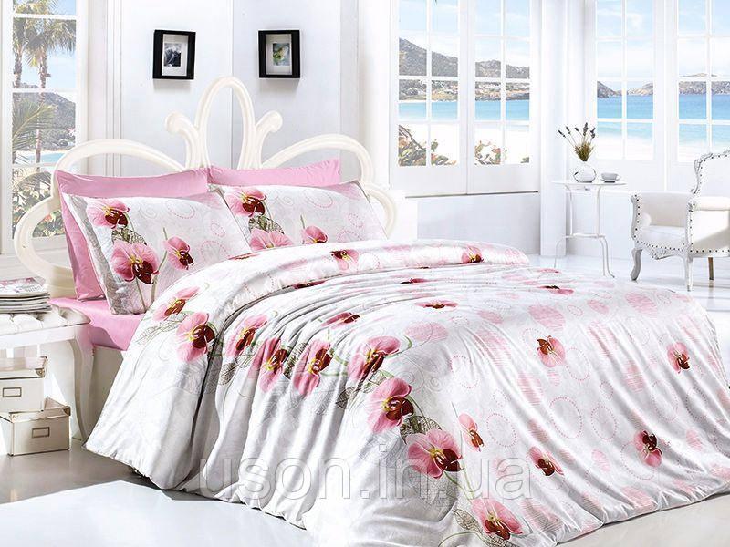 Комплект постельного белья TM First Choice ранфорс Leora Pembe