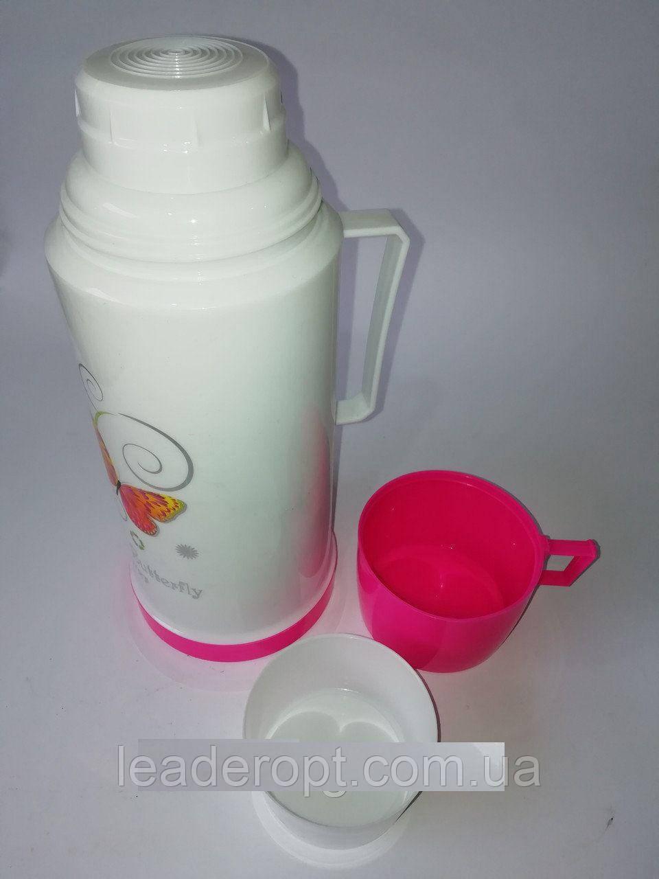 [ОПТ] Термос Вакуумный Пластик И Стекло 0.68L, 3 цвета