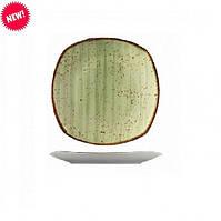 Тарелка квадратная фарфоровая цветная мелкая Kutahya 250мм.