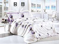Комплект постельного белья TM First Choice ранфорс Leora Lila Евро