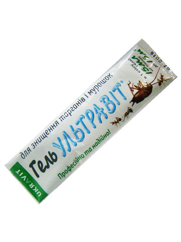 Гель против тараканов и муравьев Ультравит 15 мл (Вышли сроки) Укравит