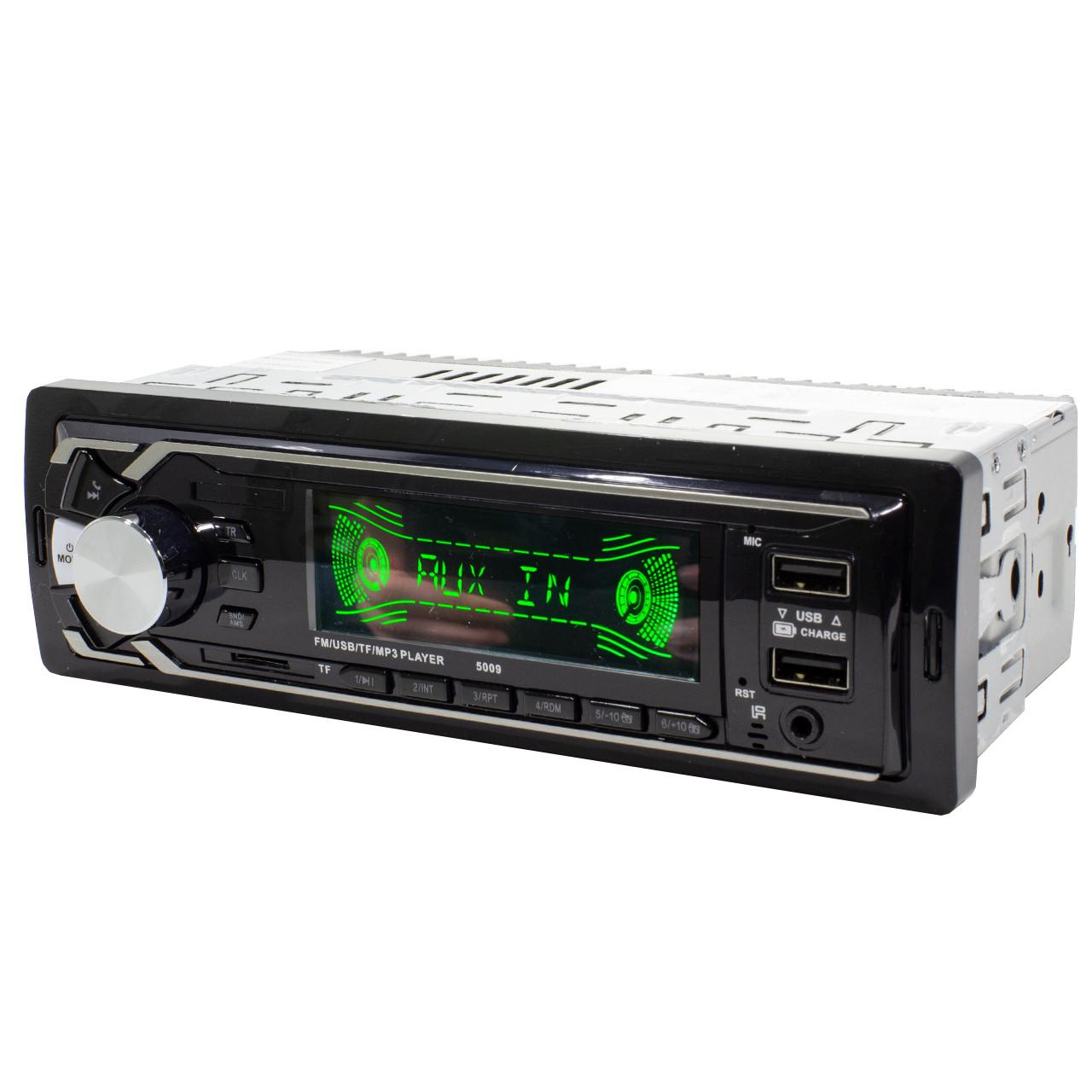 Автомагнитола Lesko 5009 с функцией Bluetooth 1Din прием входящих звонков 2 юсб порта ФМ радио пульт ДУ