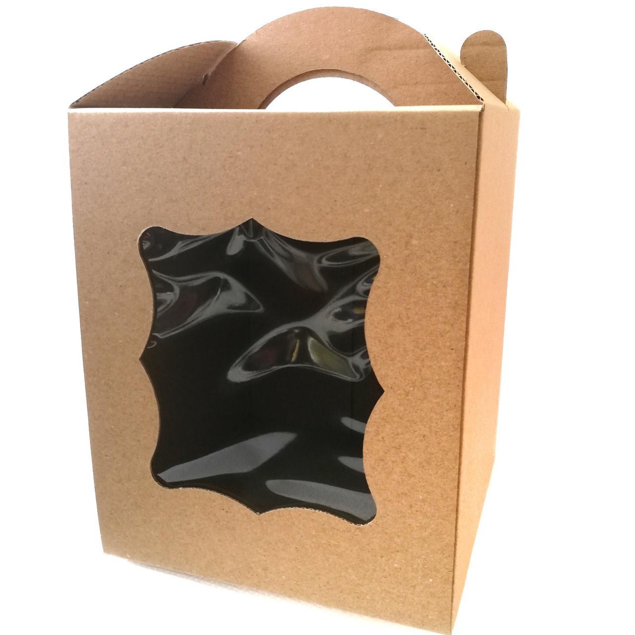 Упаковка для паски з віконцем бура