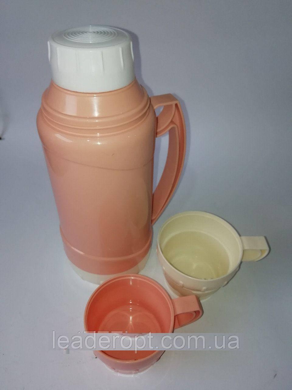 [ОПТ] Термос Вакуумный Пластик И Стекло 1.8L, 2 цвета