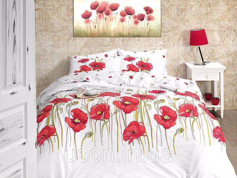 Комплект постельного белья TM First Choice ранфорс Bozca Kirmizi