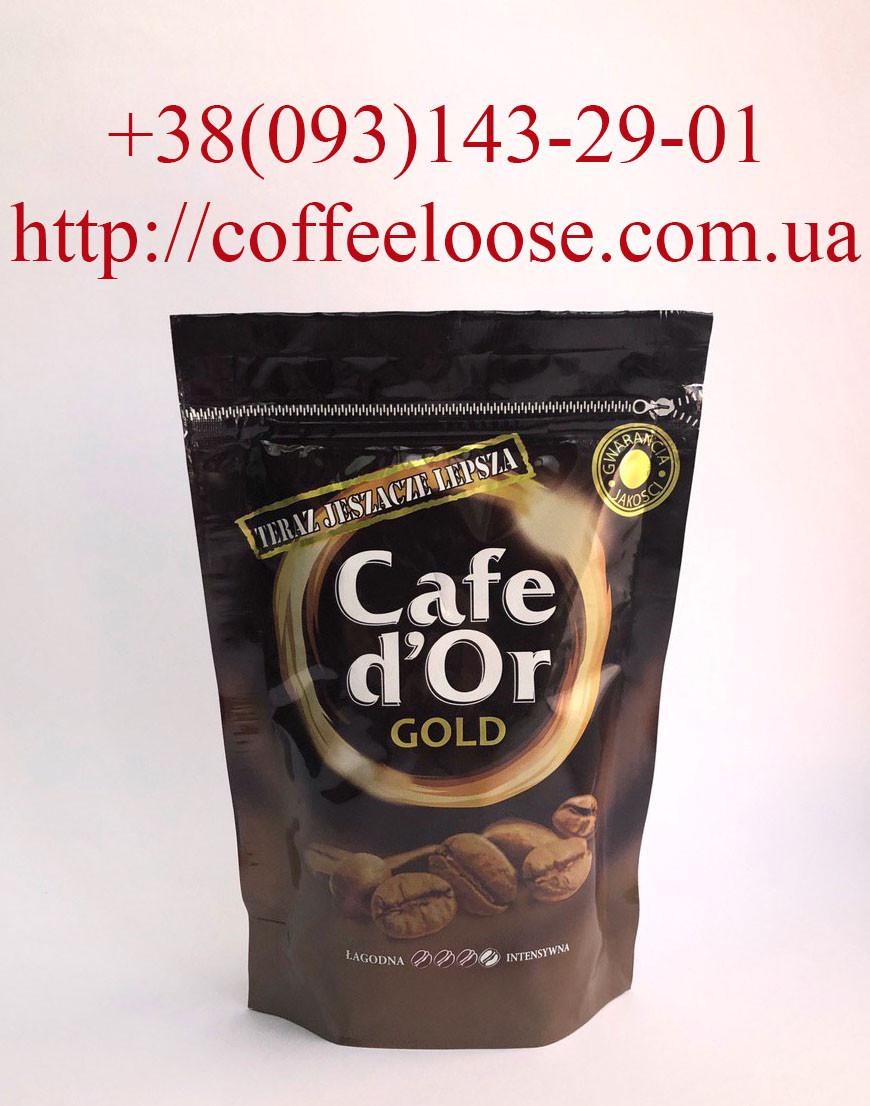 Кава Cafe d'or Gold розчинна 200g Економ Пакет. Кава Кафе Дор Голд сублімований 200г Економ Пакет.