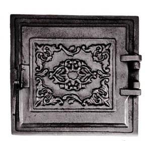 Топочная дверца для печи 330х360мм, чугунные печные дверки 102852