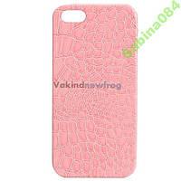 Чехлы для iPhone 5/5s SE лаковая кожа под крокодила пудра