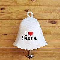 "Шапка для лазні, сауни G ""I love Sauna"""