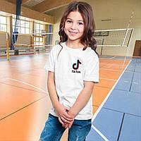 Детская футболка TIK  TOK.  ТИК ТОК на сердце. Футболка для девочки   ТИК ТОК