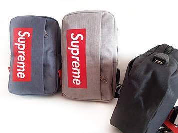 Мужская сумка Supreme мессенджер-планшетка-барсетка Сумка- рюкзак через плечо